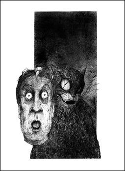 Una de las espléndidas ilustraciones de Alfonso Rodríguez Barrera para la edición Nevski de El maestro y Margarita