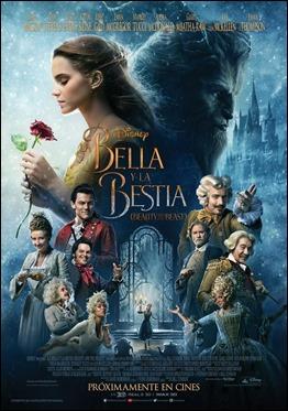 Cartel de La bella y la bestia, versión de 2017