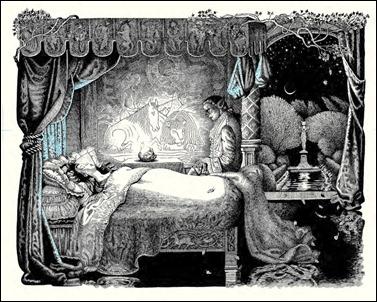 Dibujo de la ilustradora francesa Nicole Claveloux para La bella y la bestia