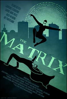 Estupendo poster alternativo de Dwayne-L para The Matrix