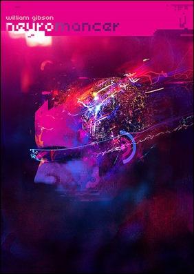 Ilustración de Andy Pott sobre Neuromante