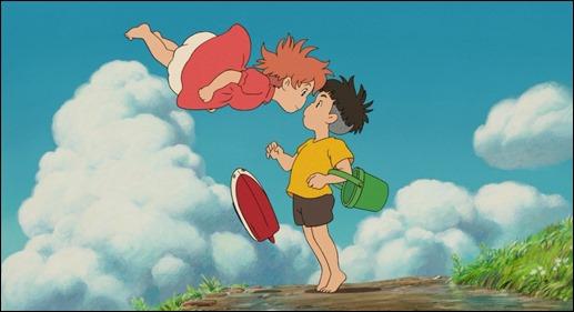 El beso final de Ponyo y Sosuke