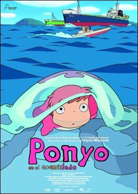 Poster del estreno español de Ponyo en el acantilado