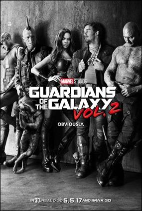 Simpático poster de Guardianes de la Galaxia vol 2