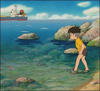 Sosuke encuentra a Ponyo