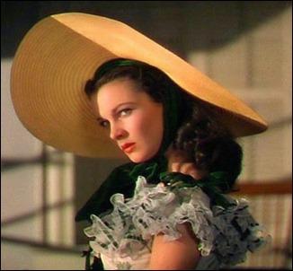 Radiante Vivien Leigh como Escarlata O'Hara