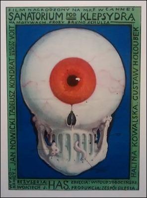 Sugestivo cartel original de El sanatorio de la clepsidra