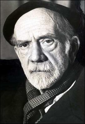 Fotografía del anciano Pío Baroja
