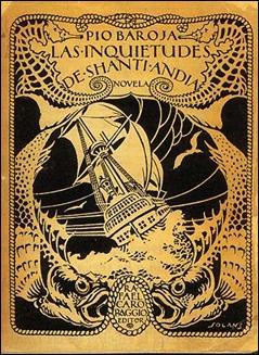Portada de la edición de Las inquietudes de Shanti Andía en la editorial de Rafael Caro Raggio, cuñado de Pío Baroja
