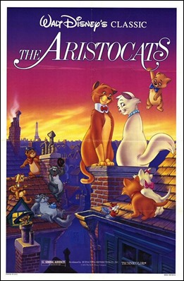 Cartel de Los aristogatos