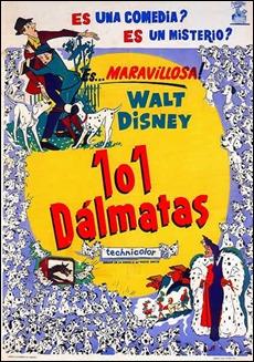 Curioso poster de 101 dalmatas