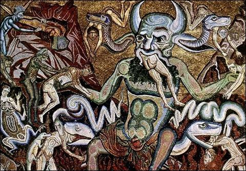 El diablo en la cúpula del baptisterio de Florencia