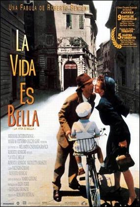 Poster español de La vida es bella