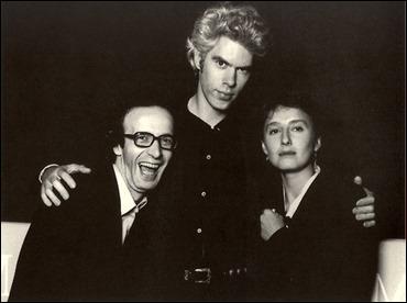 Roberto Benigni, con su mujer Nicoletta Braschi y el director Jim Jarmusch