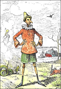 Ilustración clásica de Pinocho por Enrico Mazzanti