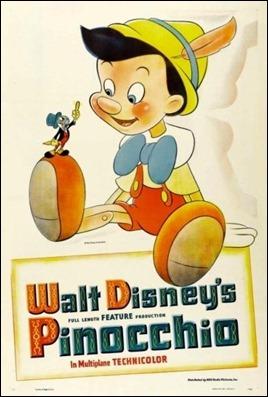Poster original del Pinocho de Walt Disney