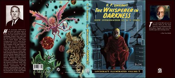 Cubierta de una edición de El que susurra en la oscuridad, con portada de Pete Von Sholly