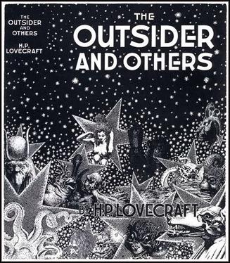El primer libro de Arkham House, The Outsider and Others. Portada de Virgil Finlay