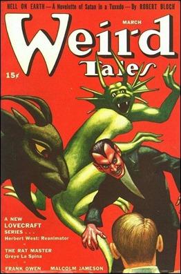 Uno de los números de Weird Tales donde aparece uno de sus relatos