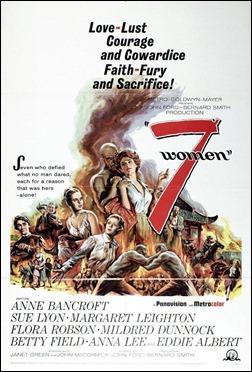 Cartel original de 7 mujeres, de John Ford