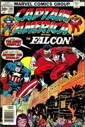 Estupenda portada de Captain America 201, inicio de la espléndida aventura del Pueblo Nocturno