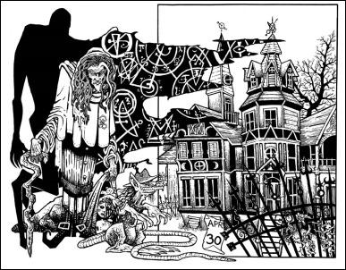 Ilustración de Tillinghast23 para Los sueños en la casa de la bruja