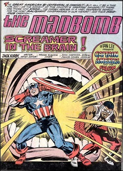 Magnifica pagina inaugural de la saga de la bomba loca, por Jack Kirby