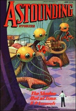 Portada de la revista Astounding Stories donde se publicó La sombra de otro tiempo