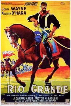 Cartel frances de Rio Grande, de John Ford