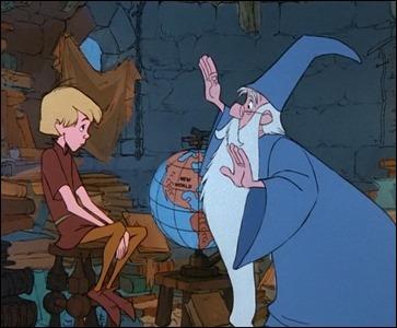 Merlin instruyendo a Grillo, o sea, el futuro rey Arturo