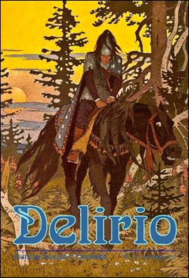 Portada del número 20 de la revista Delirio, con ilustración de Ivan Bilibin