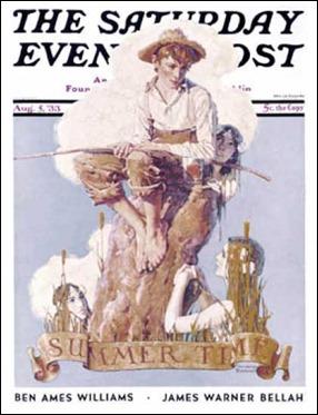 Uno de los números de la revista Saturday Evening Post en que publicó James Warner Bellah, con portada de Norman Rockwell
