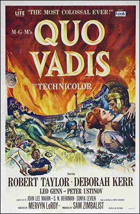 Cartel de la famosa version de la Metro de Quo Vadis