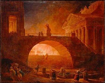 El incendio de Roma por Neron