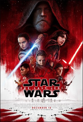 Poster de Star Wars. Los ultimos jedi