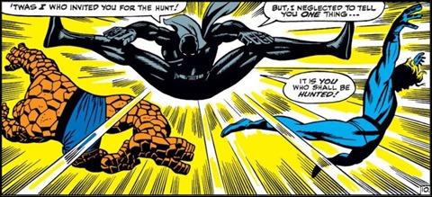 Espectacular primer encuentro de Pantera Negra con Los 4 Fantasticos