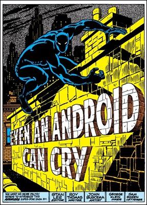 Espectacular splash page de Pantera Negra en The Avengers, por John Buscema