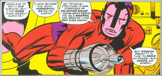 Genial diseño de Jack Kirby para Klaw, el Amo del Sonido