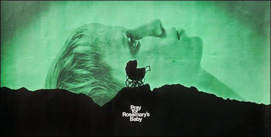 Mítica imagen del cartel promocional de La semilla del diablo. Copyright de Paramount Pictures)