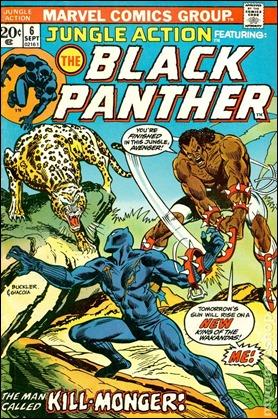 Portada del numero 6 de Jungle Action, inicio de la serie de Don McGregor sobre Pantera Negra