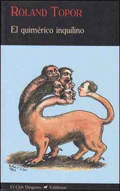 Ilustración del mismo Topor para la portada de la edicion Valdemar de El quimerico inquilino