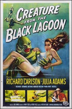 Poster ingles de La mujer y el monstruo