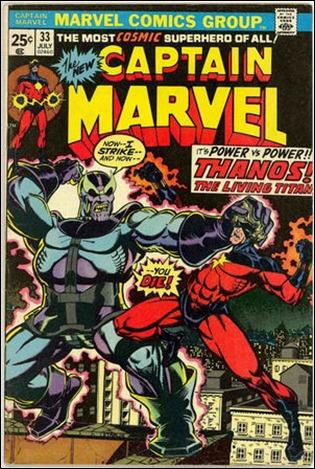 Archienemigos siempre, Thanos y el Capitan Marvel