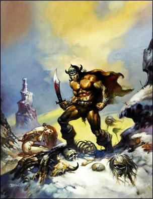 Conan, ilustración de Boris Vallejo