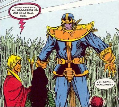 La armadura de Thanos, convertida en espantapájaros