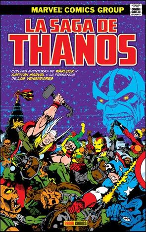 Portada del tomo de Panini dedicado a la saga clásica de Thanos