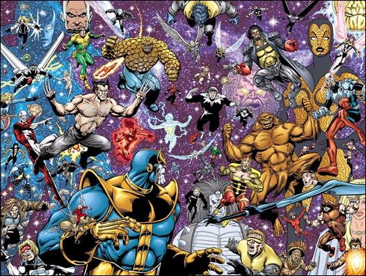 Thanos contra todos en Marvel El Fin