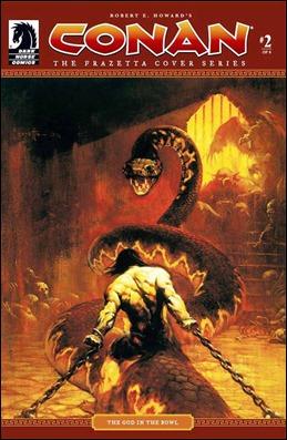 Una de las magníficas cubiertas de Frank Frazetta para Conan