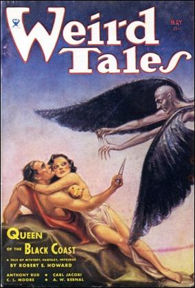 Una de las portadas de Margaret Brundage sobre Conan para Weird Tales