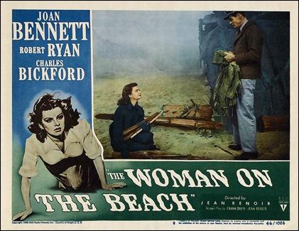 Afiche de Una mujer en la playa, de Renoir